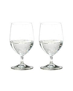 Riedel Vinum Water Glass waterglas 350 ml kristalglas 2 stuks