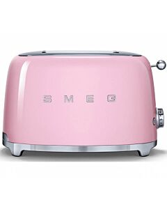 Smeg 50's style broodrooster 2 sleuven staal roze