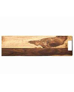 Bowls and Dishes Rose Wood rechte serveerplank met metalen handvat 69 cm
