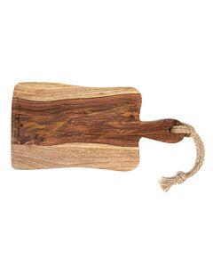 Bowls and Dishes Rose Wood serveerplank met handvat rustique 35 cm