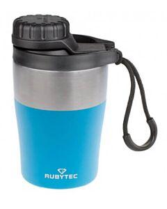 Rubytec Shira Hotshot dubbelwandige thermosfles 200 ml rvs blauw