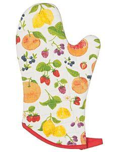 Now Designs Fruit Salad ovenwant 30 x 13 cm katoen wit/rood