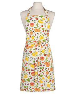 Now Designs Fruit Salad schort 85 x 70 cm katoen wit/rood