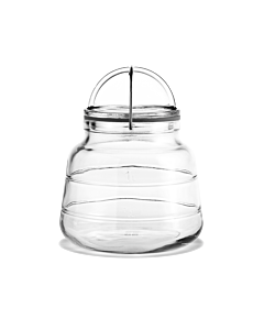 Holmegaard Scala voorraadpot 1 liter 19,2 cm glas