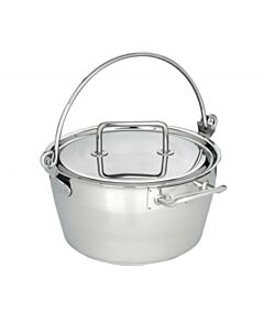 Demeyere Resto confituur- en zeevruchtenpan 10 liter rvs glans