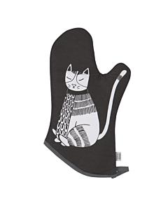 Now Designs Purr Party ovenwant 30 x 13 cm zwart wit