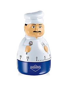 Küchenprofi Peppino kookwekker ø 6 cm rvs wit blauw