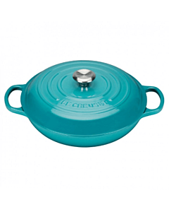 Le Creuset multifunctionele braadpan 2 liter ø 26 cm gietijzer Caribbean blue