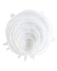 Dotz vershouddeksels silicone transparant 6-delig