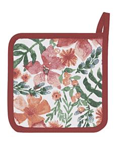 Now Designs Botanica pannenlap 20 x 20 cm katoen rood