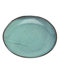 Serax Aqua ontbijt- of dessertbord ø 22 cm aardewerk blauw spikkel
