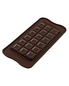 Silikomart EasyChoc Tablette Choco Bar 15,5 x 8 cm silicone bruin