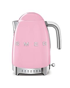 Smeg 50's style waterkoker met temperatuurcontrole 1,7 liter rvs roze