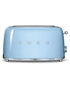 Smeg 50's style broodrooster lang 2 sleuven staal pastelblauw