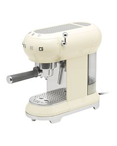 SMEG 50's style halfautomatische espressomachine crème