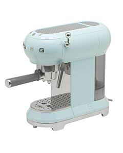 SMEG 50's style halfautomatische espressomachine pastelblauw