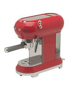 Smeg 50's style halfautomatische espressomachine rood