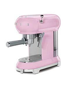 Smeg 50's style halfautomatische espressomachine roze