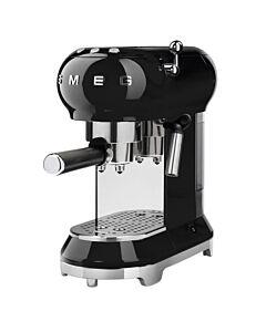 Smeg 50's style halfautomatische espressomachine zwart