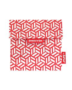 by Roll'eat Snack'n'Go herbruikbare Snack Bag 18 x 18 cm polyester Red