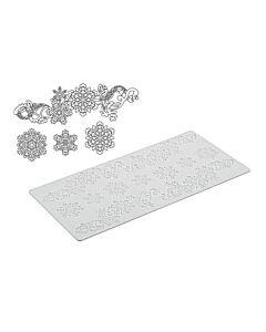 Silikomart Wonder Cakes Tricot Decor Snowflake decoratiemat silicone wit