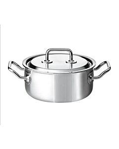 Spring Brigade Premium braadpan met rvs deksel ø 22 cm rvs