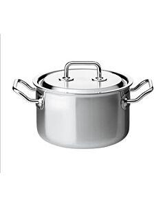 Spring Brigade Premium kookpan met rvs deksel ø 18 cm rvs