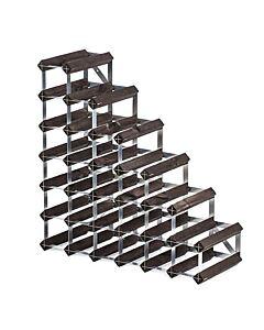 Traditional Wine Rack Co. wijnrek voor onder de trap 61,2 x 22,8 cm verbrande eik bruin