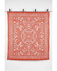 by TextielMuseum plaid Studio Job - Folklore 145 x 130 cm oranje