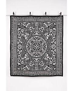 by TextielMuseum plaid Studio Job - Folklore 145 x 130 cm zwart