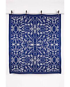 by TextielMuseum plaid Studio Job - Perished 145 x 130 cm blauw