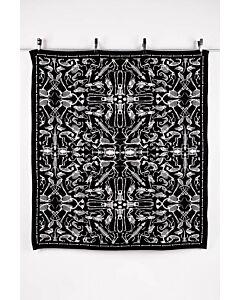 by TextielMuseum plaid Studio Job - Perished 145 x 130 cm zwart