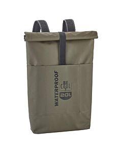 Be Cool Tube Cooler Waterproof rugzak koeltas 20 liter olijfgroen