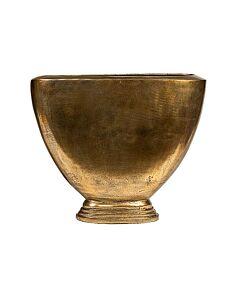 Oldenhof vaas 57 x 20 x 53 cm ovaal metaal goudkleurig