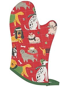 Now Designs Yule Dogs ovenwant 30 x 13 cm katoen rood