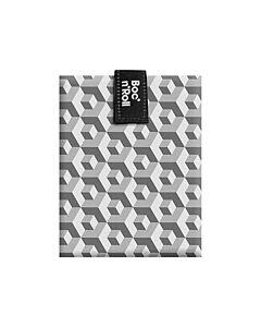 by Roll'eat Boc'n'Roll herbruikbaar boterhamzakje 44,5 x 29,5 cm polyester Black