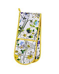 Ulster Weavers Wildflowers lange pannenlap katoen geel