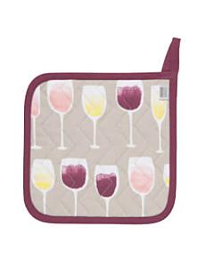 Now Designs Wine Tasting pannenlap 20 x 20 cm katoen
