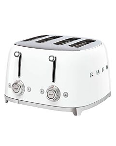 Smeg 50's style broodrooster 4 sleuven staal wit