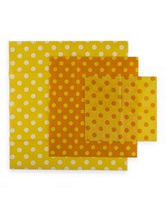 Mortier Pilon herbruikbare Food Wraps geel 3-delig