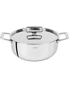 Cristel Castel'Pro Multiply kookpan met rvs deksel ø 16 cm rvs