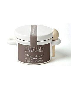 Oldenhof L'Épicerie De Provence Fleur de Sel Camargue tijm en rozemarijn 100 gram