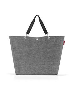 Reisenthel Shopper XL boodschappentas 68 x 20 cm polyester Twist Silver