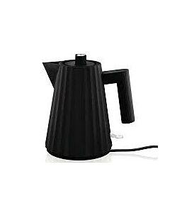 Alessi Plissé waterkoker 1 liter kunststof zwart