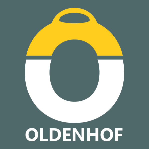 Oldenhof Keulse pot met oortjes 200 gr keramiek blauw