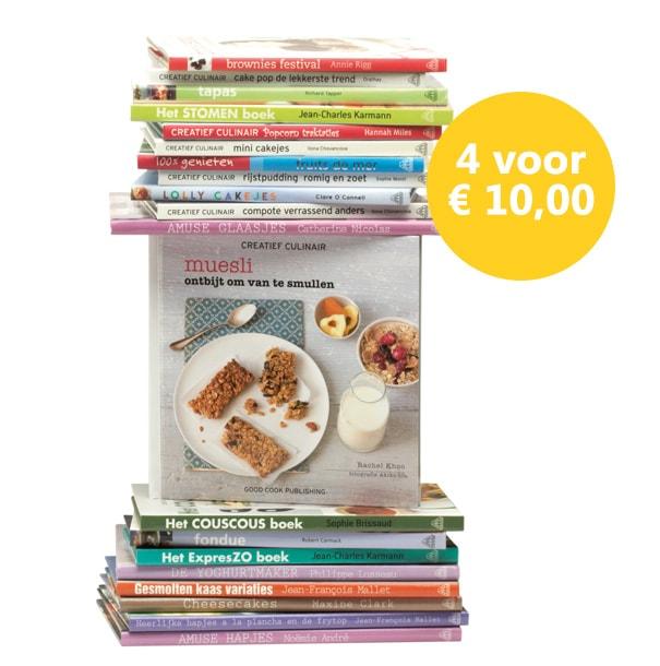 4 kookboeken voor 10 euro