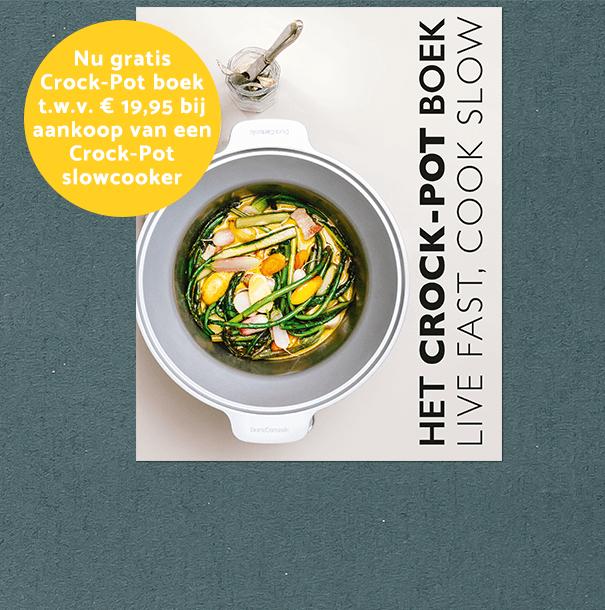 Crock-Pot boek gratis bij Crock-Pot slowcooker
