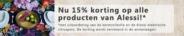15% korting op Alessi