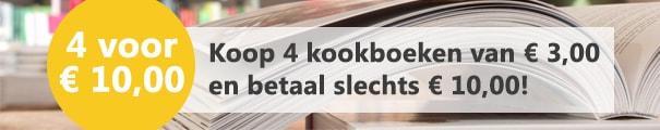 productbanner 4 kookboeken voor 10 euro