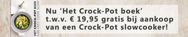Crock-Pot slowcooker met gratis boek